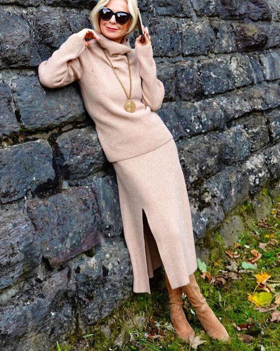 9 образов для женщин после 50-ти лет. Чтобы было тепло и стильно. Подборка, которая мне понравилась