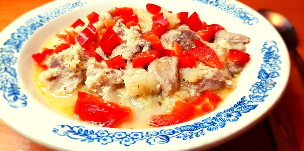 Кето-рагу из индейки с овощами